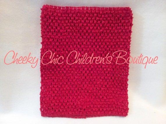 10x9 inch RED Crochet Tutu Dress Tube Top [CB10RD]