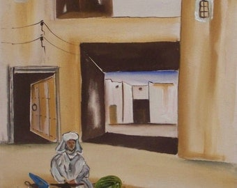 Painting on Canvas (scene of moroccan daily)