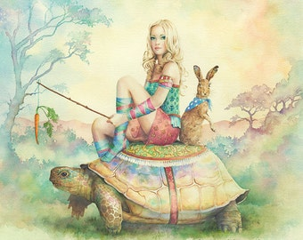 The Tortoise and the Hare (Limited Edition Print, 23 of 100) By Scot Howden