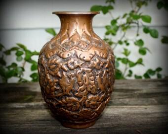 Copper Vase Urn Persian Rare