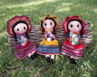 Handmade Large Peruvian Doll