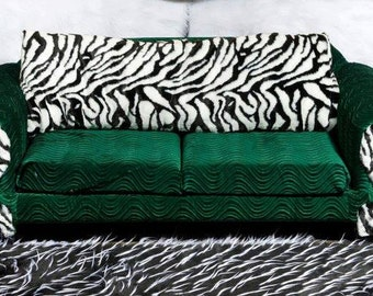 wavy velvet and zebra fur