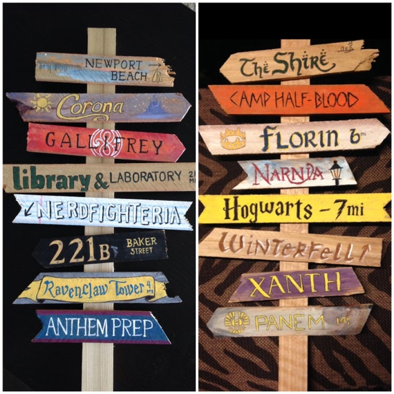 Create your own fandom directional sign for by Create our own room design