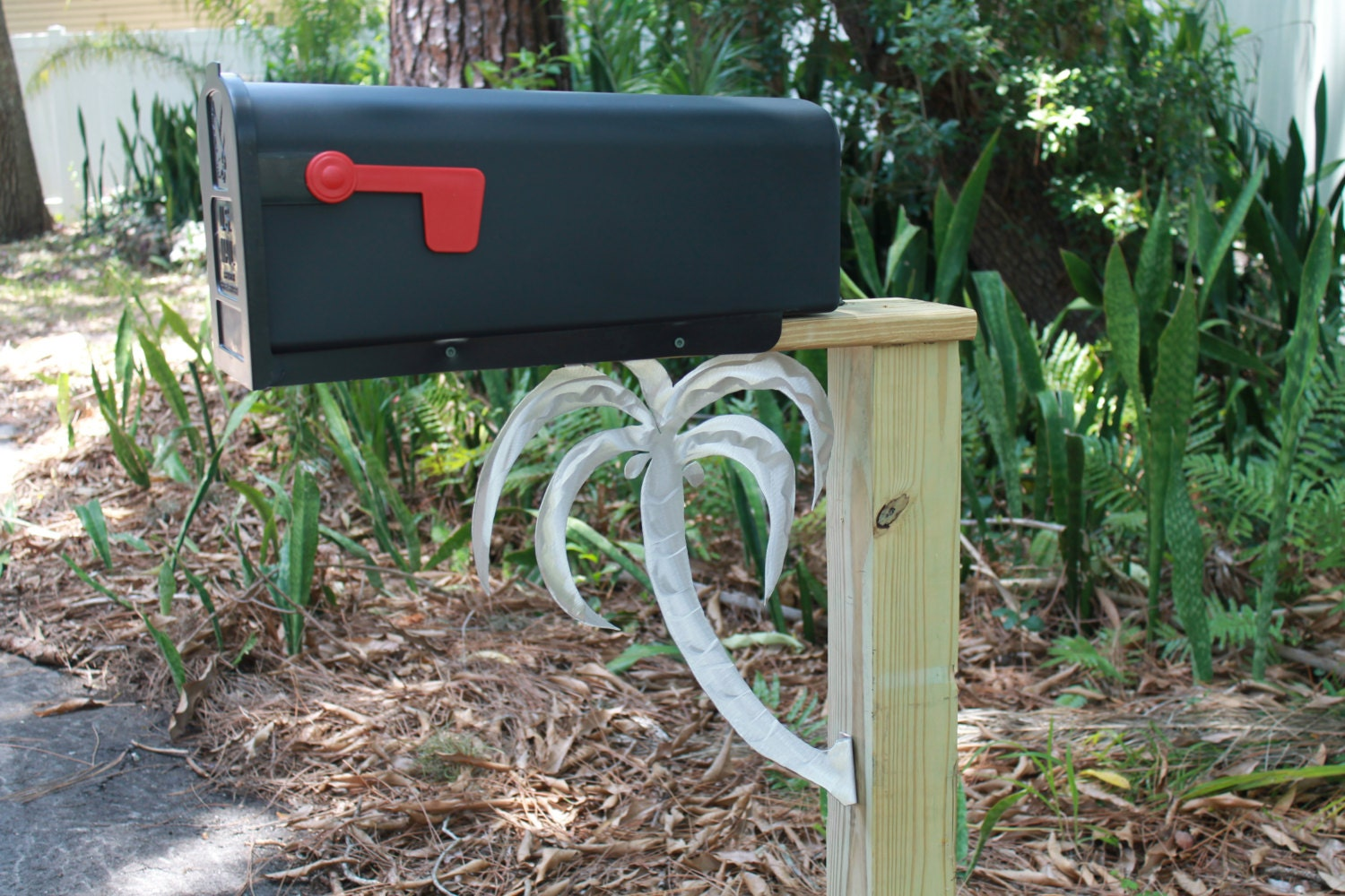 Sale palm tree mailbox decal mailbox art by for Car mailboxes for sale