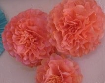 Coffee Filter Flower - Hand Dyed - Set of 10