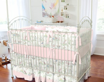 Girl Baby Crib Bedding: Pink Over the Moon Toile 2-Piece Crib Bedding Set by Carousel Designs