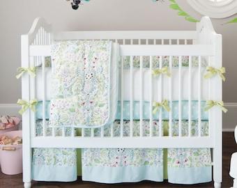 Girl Baby Crib Bedding: Bebe Jardin 4-Piece Crib Bedding Set by Carousel Designs