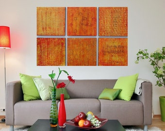 Large Wood Block Art Multi Panel Art Custom Modern Art