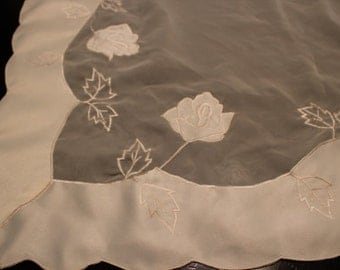 Square White Sheer Tablecloth