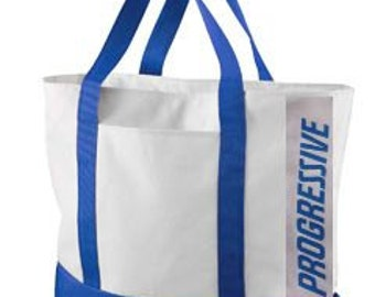 """Adult Flo Progressive Insurance 21.5"""" Bag to go with your Apron, Name Badge + Pin attached WITH or WITHOUT pins!  A fun FLO apron!"""