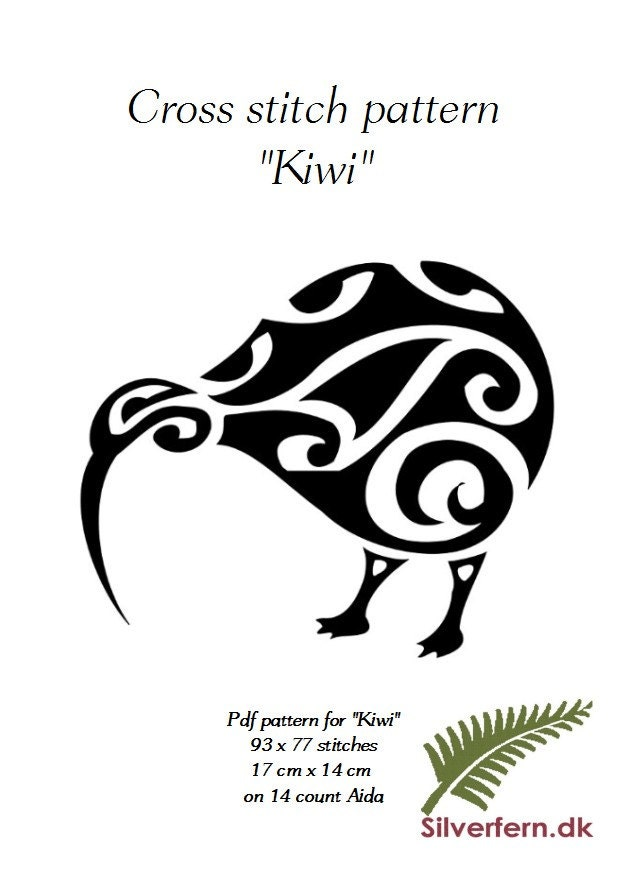 simple yet elegant cross stich pattern of a beautiful kiwi. Black Bedroom Furniture Sets. Home Design Ideas
