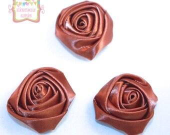 """Petite Brown Rosebud 1.2"""""""