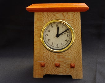 Mission Style Clock from non traditional woods.