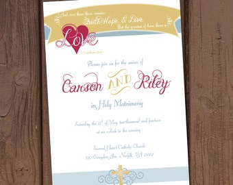 Christian Church Wedding Invitation