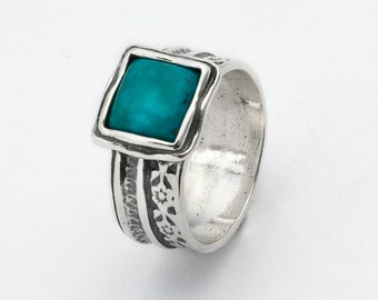New Turqouise Green Sterling Silver 925 Ring