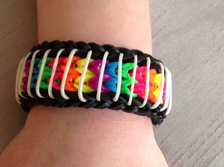 rainbow loom bracelet sailors pinstripe by emzdesignz on etsy