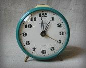 Vintage Soviet Alarm Clock ,Yantar , Working Desk Table Clock  from USSR, 70s