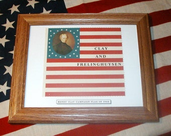 26 Star Flag, American Flag..Henry Clay Campaign Flag of 1844