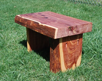Hand Crafted Red Cedar Solid Wood Step Stool