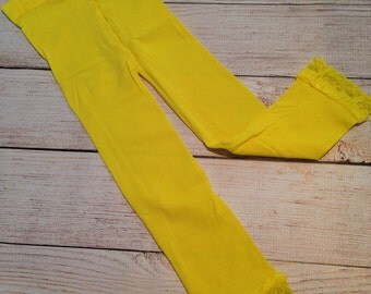Lace Legging....Yellow....Footless