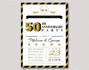 50th Wedding Anniversary Gifts For Parents Canada : Surprise 50th Wedding Anniversary I nvitation - Anniversary Invitation ...