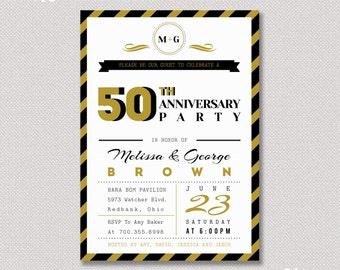 Surprise 50th Wedding Anniversary I nvitation - Anniversary Invitation ...