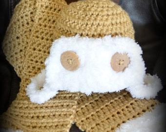 Baby Aviator Hat & Scarf Set