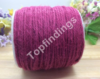 U Pick! 2mm Hemp Rope-Hemp Twine-Flax Kraft String-Hang Tag String-Rose