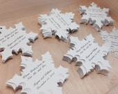 Winter Wedding favour tags. Customized christmas favour tag, snowflake wedding favor tags