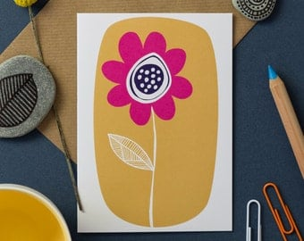 Yellow Flower Greetings Card