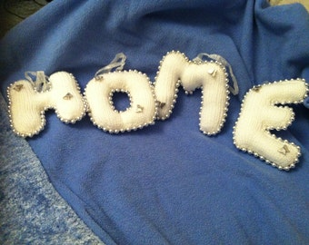 Beautiful Knitted Letters 'HOME'