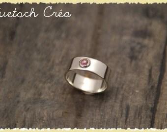 Ring Silver 925 & Pink Tourmaline pink cut