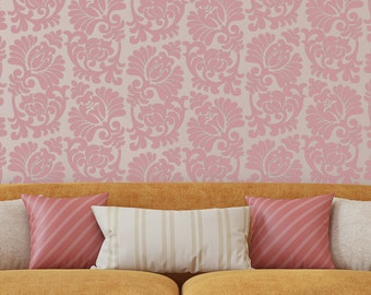 Reusable Wall Damask Stencil Marcia for Easy wall stenciling better than decals