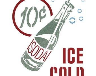 Soda Drink Stencil Reusable Stencils for Craft DIY Wall Painting decor