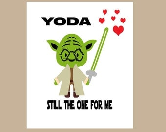 Star Wars Valentine Card - Yoda One For Me Card - Star Wars Anniversary Card - Geek Valentine Card - Nerd Love Card