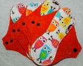 Minky Owls Regular Mama Cloths