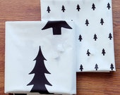 Laminated Cotton Fabric Tree in 2 Patterns By The Yard