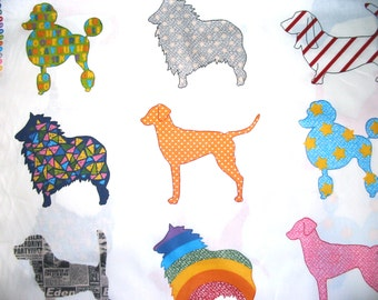 Cotton Fabric Cute French Dog By The Yard