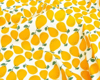 Oxford Cotton Fabric Pear Yellow By The Yard