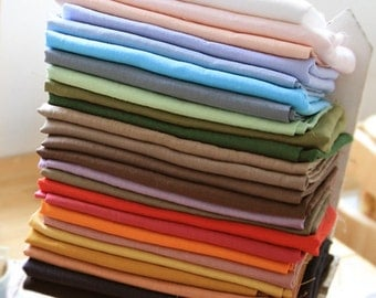 Pre-washed Cotton Linen Fabric in 25 Colors By The Yard