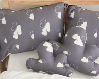 Cotton Fabric Cloud Gray By The Yard