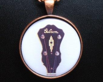 RB-18 Banjo Peghead Necklace / Pendant