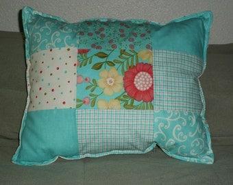 Handmade Multi-Color Patchwork Throw Pillow