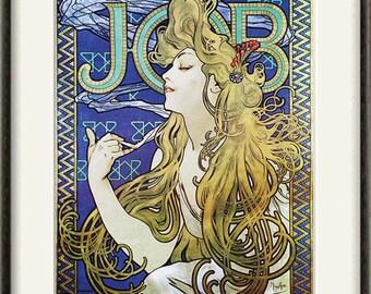 Art nouveau art print antique prints mucha art home decor wall for Arredamento art nouveau