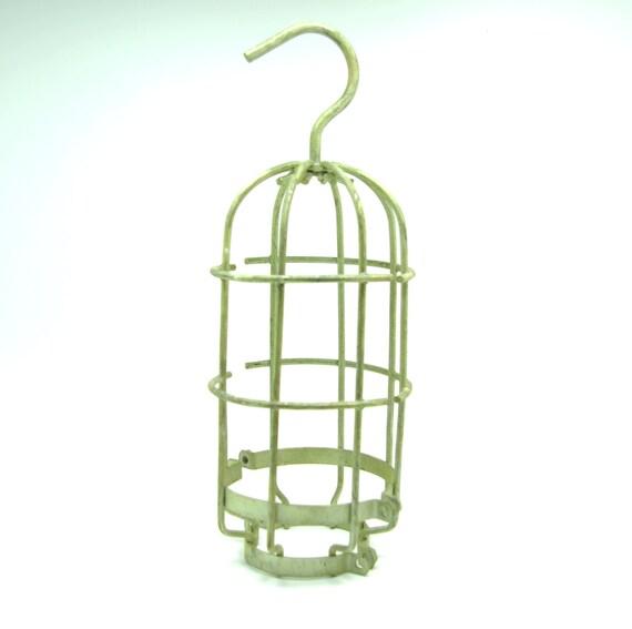 vintage 11 3 4 metal heavy gauge wire gold tone cage by. Black Bedroom Furniture Sets. Home Design Ideas