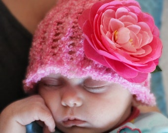 Handmade knit baby hats - various sizes and colors