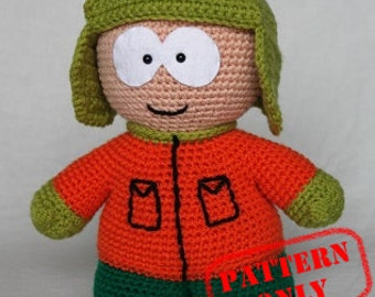 PATTERN ONLY! Kyle Broflovski South Park crochet pattern