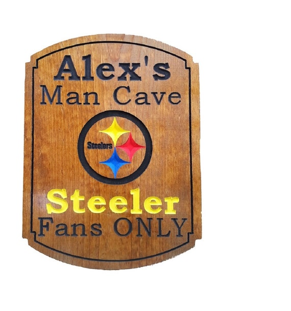 Man Cave Signs Nfl : Nfl man cave sign customized personalized by ocwoodcreations