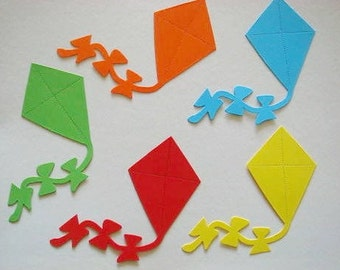 15 large Bright Kite die cuts for Children's cards/toppers *cardmaking*scrapbooking* craft project