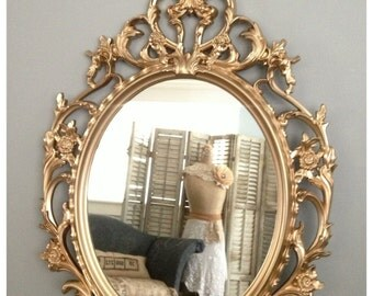 Ornate Mirrors Baroque Mirror Large Gold Wall Hollywood Regency Shabby Chic